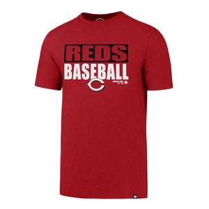 Cincinnati Reds Red Blockout Club T-Shirt Men's