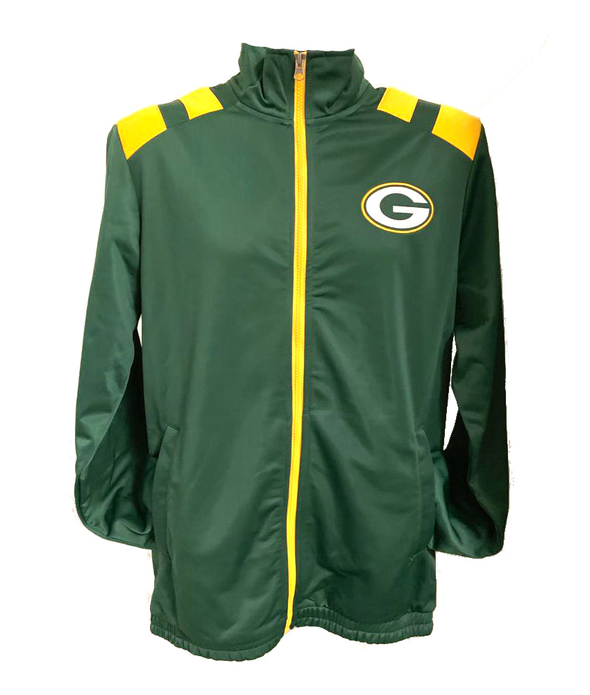 Green Bay Packers Green Soft Shell Bonded Full Zip Jacket