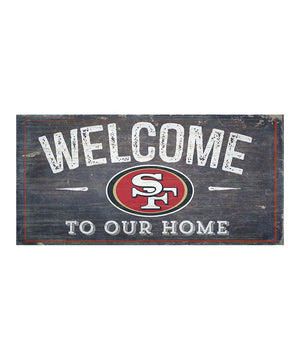 San Francisco 49ers Welcome Distressed Sign