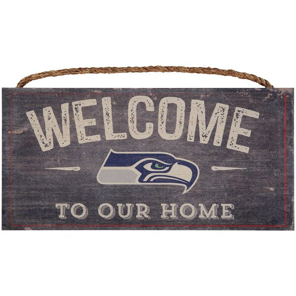 Seattle Seahawks Welcome Distressed Sign