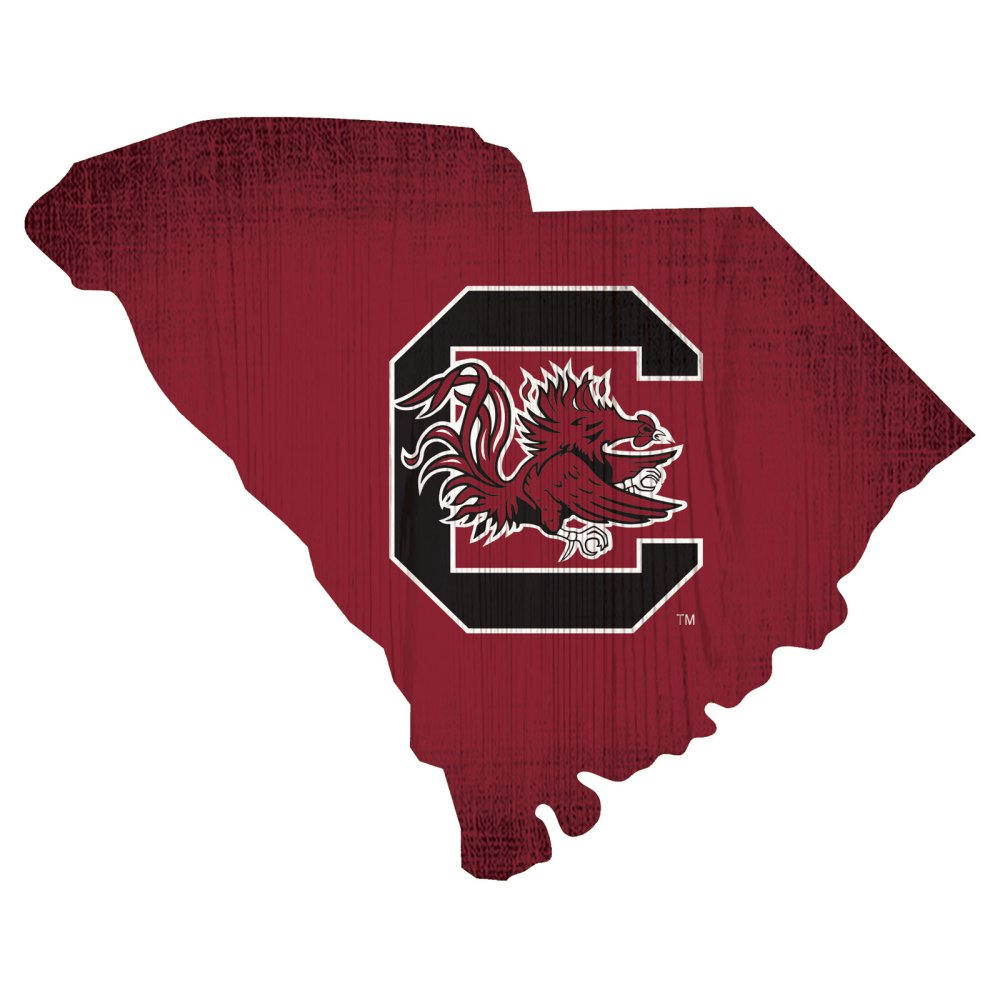 South Carolina Gamecocks State Team Color Logo Sign