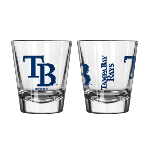 Tampa Bay Rays Clear Shot Glass
