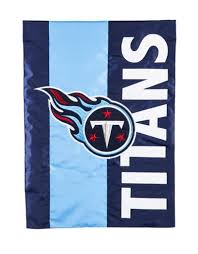 Tennessee Titans Striped Garden Flag