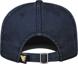 West Virginia Mountaineers Blue Crew Adjustable Hat