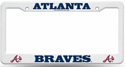 Atlanta Braves Plastic License Plate Frame