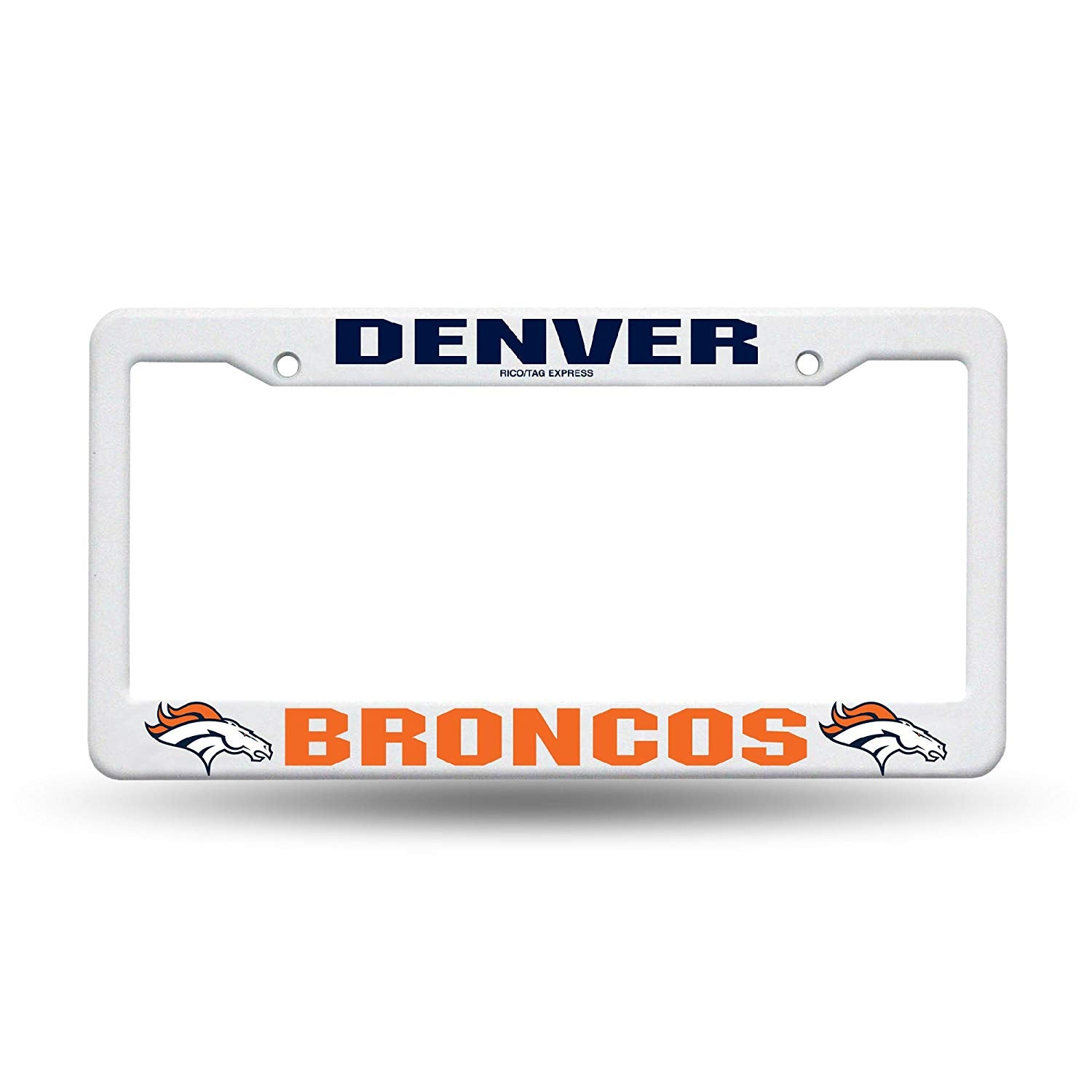 Denver Broncos Plastic License Plate Frame