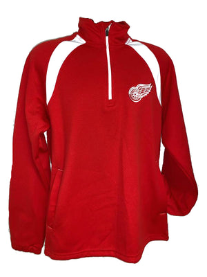 Detroit Red Wings Red Polymer Long Sleeve Quarter Zip Shirt