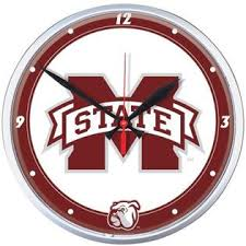 Mississippi State Bulldogs Wall Clock
