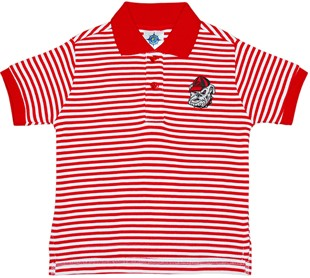 Georgia Bulldogs Head Striped Collared Infant Youth Child Polo Shirt