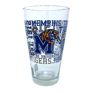 Memphis Tigers Football Pint Glass