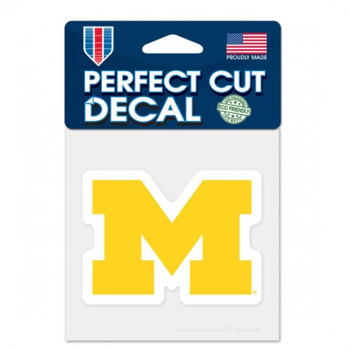 Michigan Wolverines 4x4 Die Cut Decal