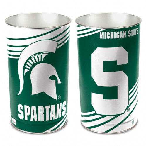 Michigan State Spartans Trash Can