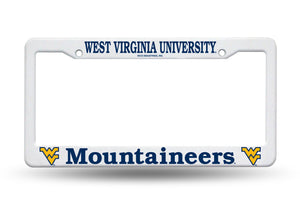West Virginia Mountaineers Plastic License Plate Frame