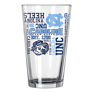 North Carolina Tar Heels Pint Glass