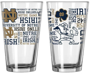 Notre Dame Fighting Irish Pint Glass