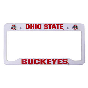Ohio State Buckeyes Plastic License Plate Frame