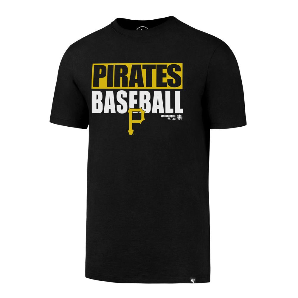 Pittsburgh Pirates  Block Out Super Rival Tee - Black