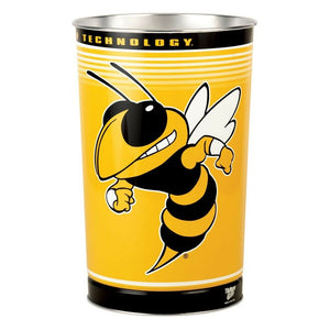 "Georgia Tech Yellow 15""x10.5"" Trash Can"
