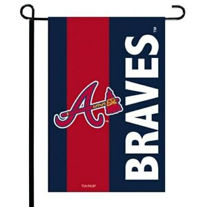 Atlanta Braves Striped Garden Flag