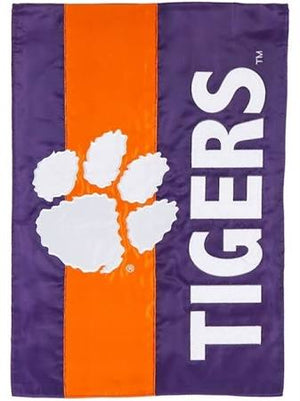 Clemson Tigers Striped Garden Flag