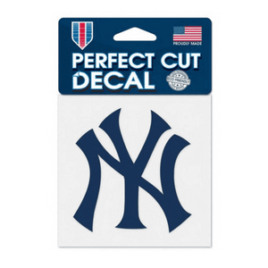 New York Yankees Decal 4x4 Perfect Cut Color