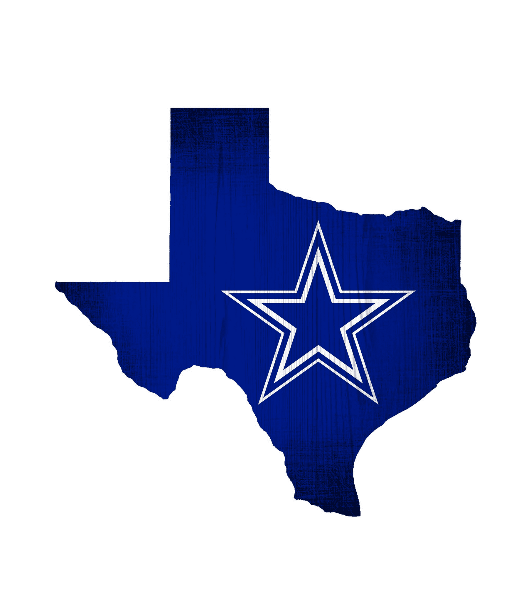Dallas Cowboys State Team Color Logo Sign