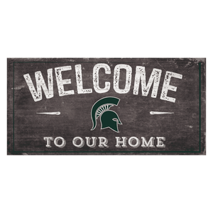 Michigan State Spartans State Team Color Logo Sign