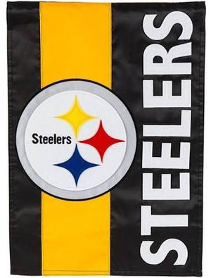 Pittsburgh Steelers Striped Garden Flag