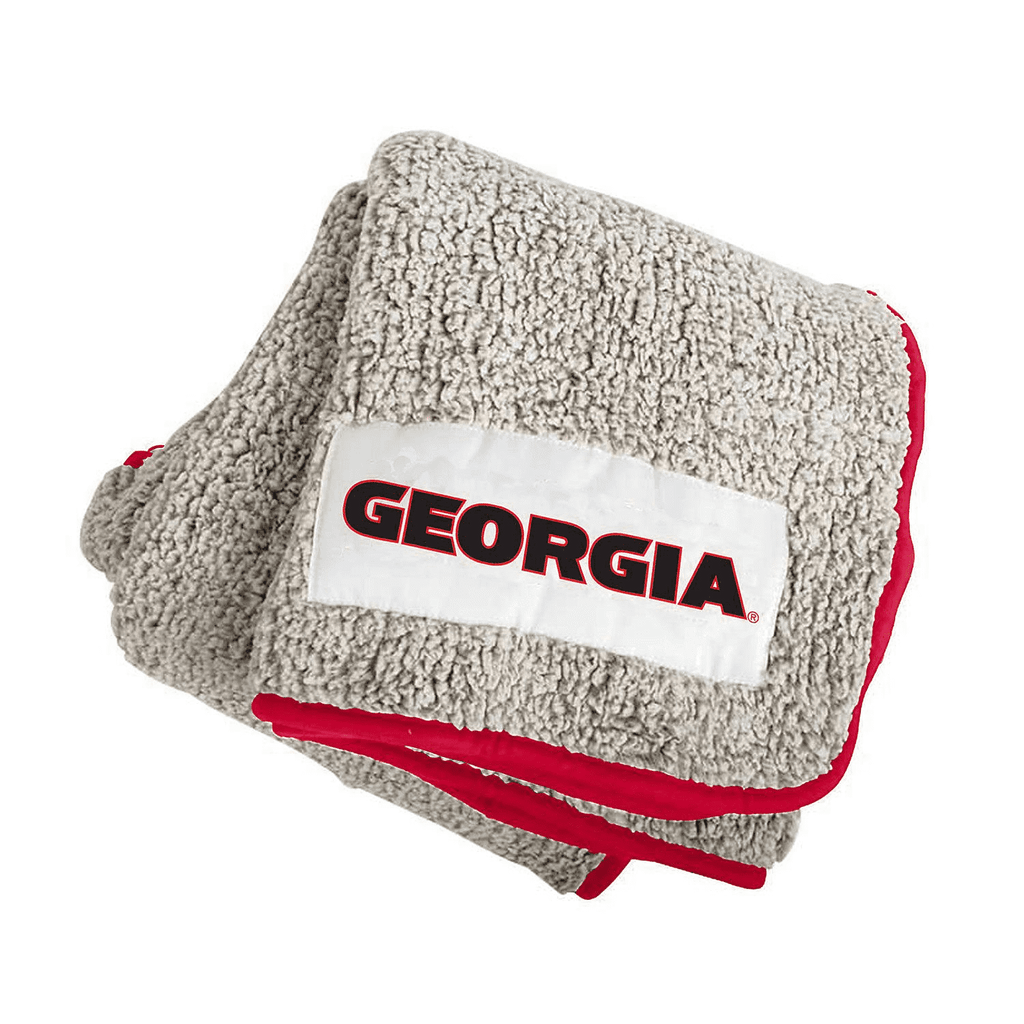 The University Of Georgia Bulldogs Frosty Fleece Throw Blanket
