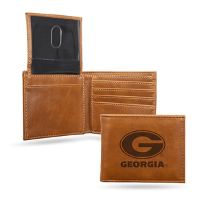 Georgia Bulldogs Laser Engraved Billfold Wallet