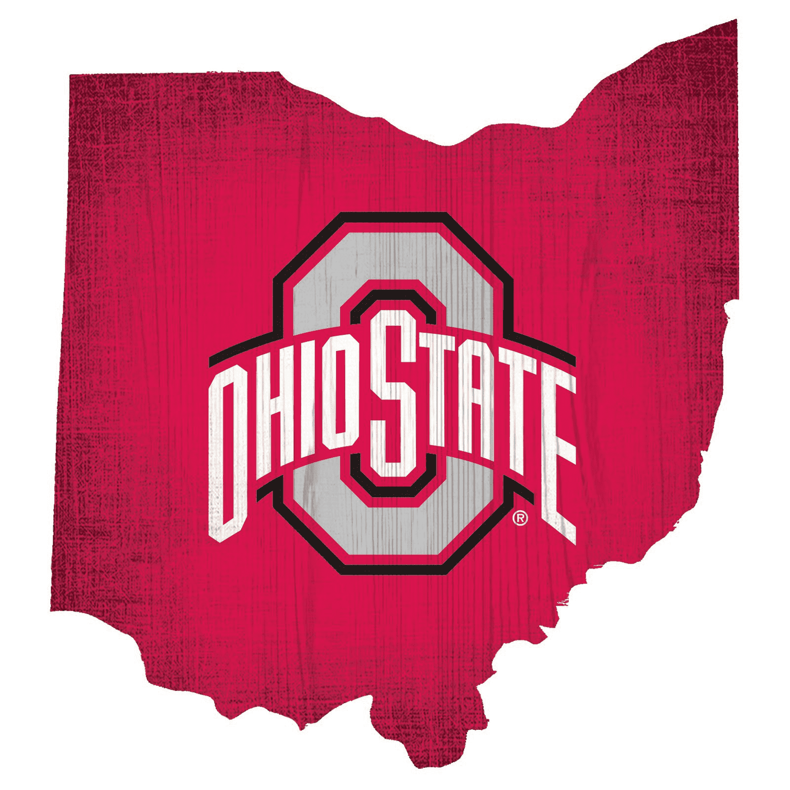 Ohio State Buckeyes State Team Color Logo Sign
