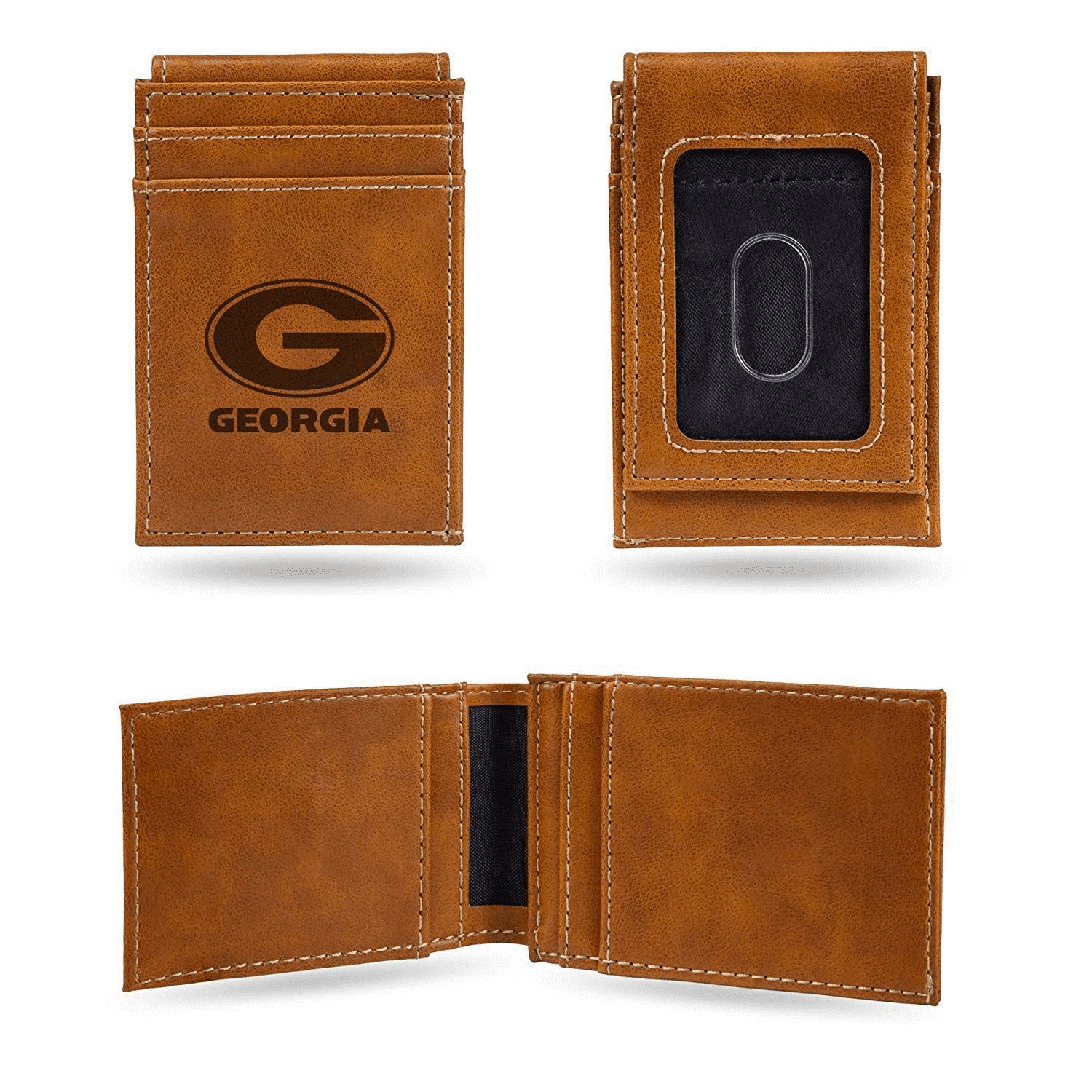 Georgia Bulldogs Laser Engraved Front Pocket Wallet