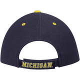 Michigan Wolverines Adjustable Strap Navy Triple Threat Hat
