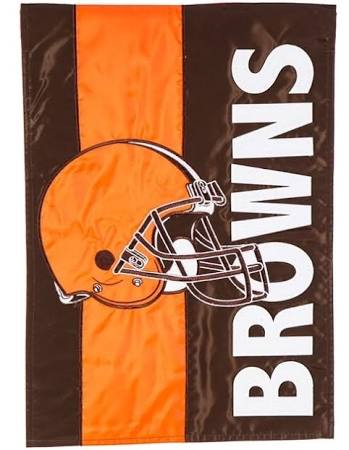 Cleveland Browns Striped Garden Flag