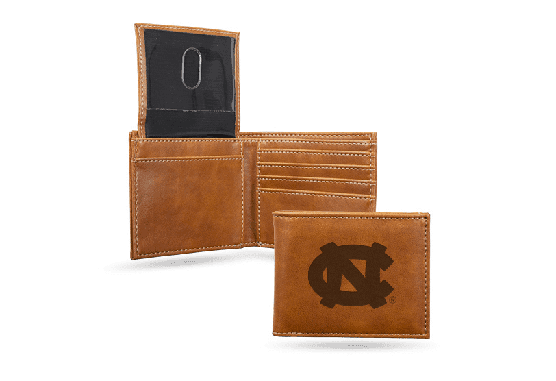 North Carolina Tar Heels Laser Engraved Billfold Wallet