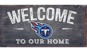 Tennessee Titans Welcome Distressed Sign