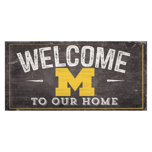 Michigan Woverines Welcome Distressed Sign