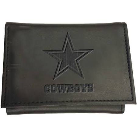 Team Sports America NFL Dallas Cowboys Tri-Fold Wallet, Black