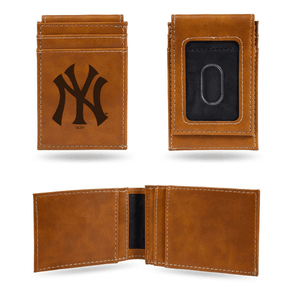 New York Yankees Laser Engraved Front Pocket Wallet
