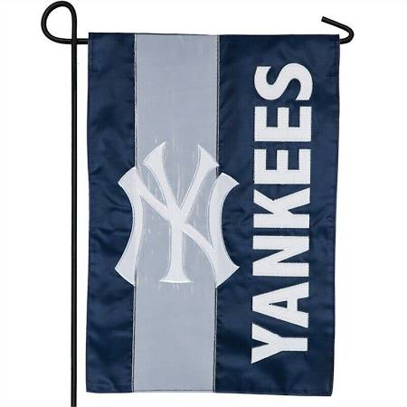 New York Yankees Striped Garden Flag