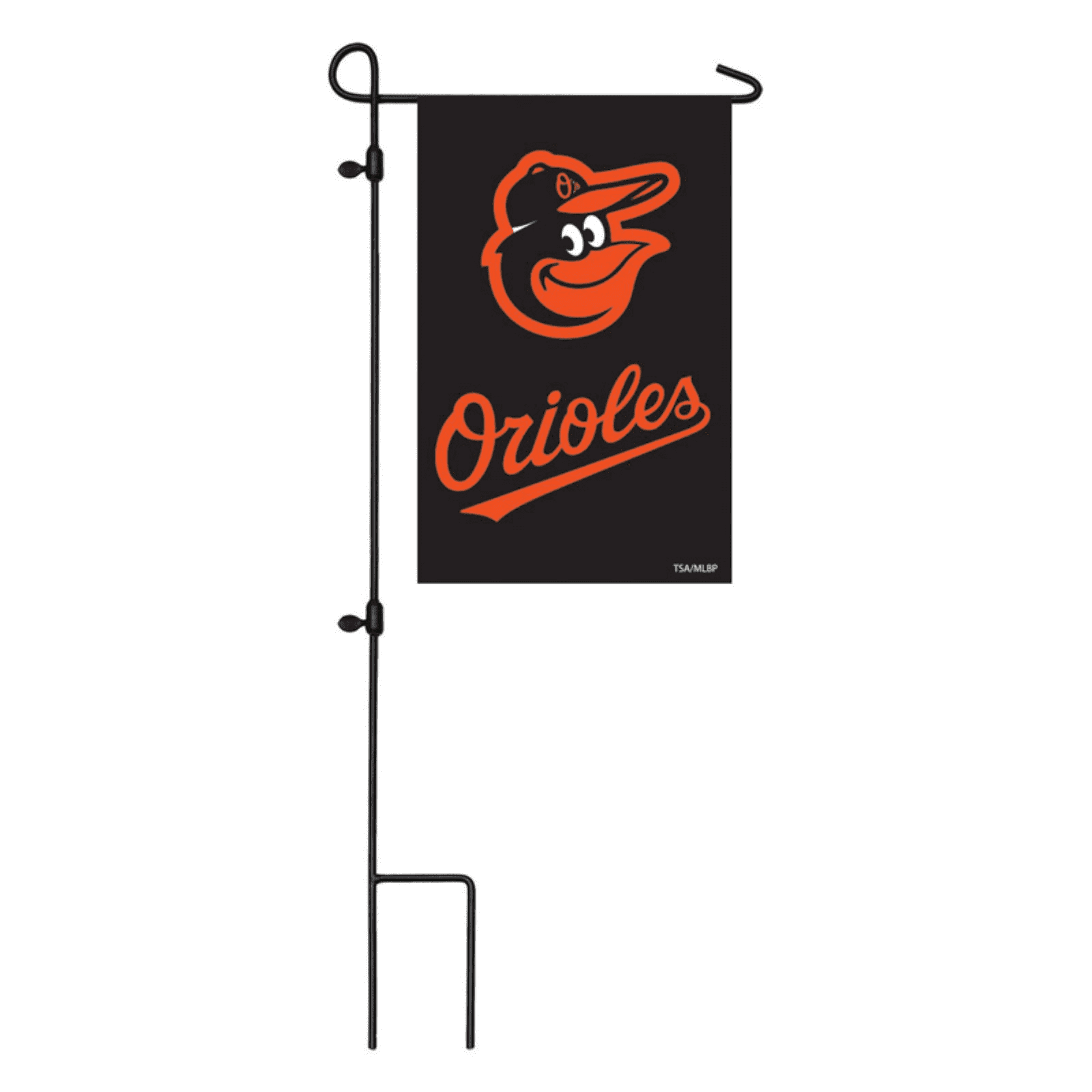 Baltimore Orioles Applique Double-Sided Garden Flag