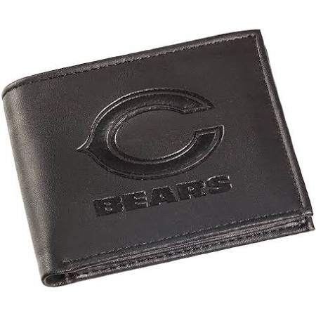 Chicago Bears Black Leather Bi-Fold Wallet
