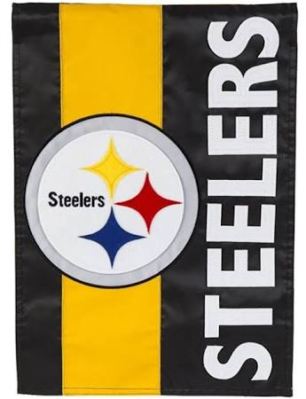 Pittsburgh Steelers Striped House Flag