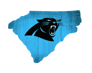 Carolina Panthers State Team Color Logo Sign