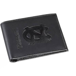 North Carolina Tar Heels Black Leather Bi-Fold Wallet