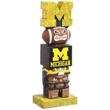 Michigan Wolverines Totem Pole