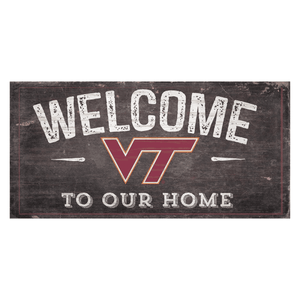 Virginia Tech Hokies Welcome Distressed Sign