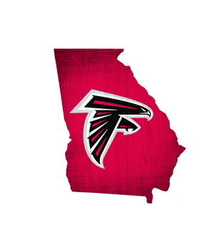 Atlanta Falcons State Team Color Logo Sign