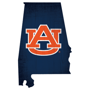Auburn Tigers State Wood Sign