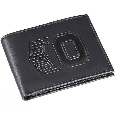 Ohio State Buckeyes Black Leather Bi-Fold Wallet